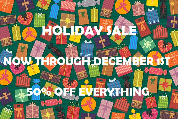 Sale 50% off of everything
